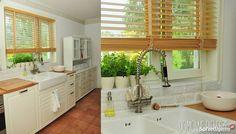 Żaluzje Drewniane Bambusowe 25mm 50mm Standard Teak, Retro, House, Facebook, Design, Home, Retro Illustration, Homes