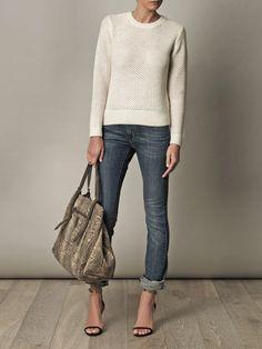 Vanessa Bruno Open weave alpaca sweater   £215