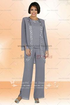 Three Piece  mother of the bride pants set nmo-036