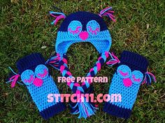 Owl Baby Legs (and Hat!) :: Free #crochet leg warmers patterns for kids!
