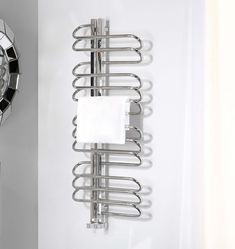 This stunning towel radiator has a polished finish to match to chrome fittings has its curves in all the right places and it's stainless steel construction ensures a long life. Stainless Steel Towel Rail, Stainless Steel Radiators, Bathroom Heater, Bathroom Radiators, Traditional Towel Radiator, Mirror Radiator, Towel Heater, Flat Panel Radiators, Warm Bathroom
