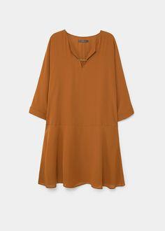 Appliqué flowy dress | VIOLETA BY MANGO
