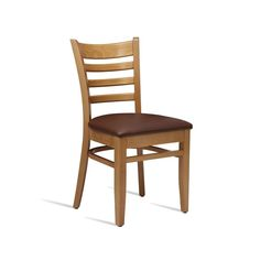 Classic looking side chair This comfortable side chair is manufactured from solid beech, finished in light oak, with a dark brown, superior quality, faux leather seatpad. Very strong bracings help to make this chair suitable for the toughest environments Cafe Furniture, Restaurant Furniture, Pub Chairs, Dining Chairs, Restaurant Seating, Light Oak, Seat Pads, Light Colors, Superior Quality