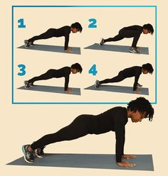 12 simple exercises to help you get the perfect body - Spider Lunge