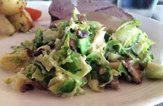 Tilbehør til stek Sprouts, Potato Salad, Cabbage, Potatoes, Vegetables, Ethnic Recipes, Food, Lettuce Salads, Quick Recipes