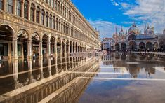 Download wallpapers Saint Marks Basilica, cathedral, italian landmarks, Doges Palace, Venice, Italy