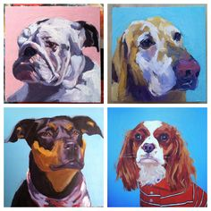 Yes I love painting dogs/puppy portraits. Here are a few other dog portraits I've painted over the years. If anyone is interested I am available for commisions. free to contact me at sjaviel@gmail.com