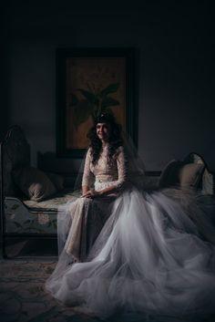 Sapphire Events | Eric James Photography | New Year's Eve Wedding | Gothic Wedding | Twilight Inspired Wedding | French Quarter Wedding | New Orleans Wedding | Pink Black Red Wedding | Bridal Portrait Idea