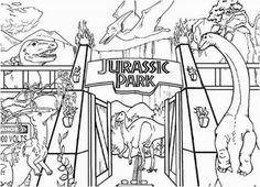 Jurassic Park Coloring Pages will Take your Child Back to Prehistoric Times - Coloring Pages Colouring Pages, Coloring Sheets, Adult Coloring, Kids Coloring, Jurassic Park Tattoo, Coloring Pages For Kids, Movies Showing, Prehistoric, Character Art