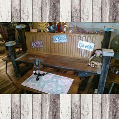 Handmade tailgate bench by Jeremie. $349.99 #cherisheverymoment #upcycling #homedecor