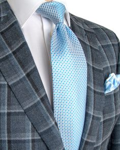 Brioni | Grey Bold Windowpane Sportcoat | Apparel | Men's