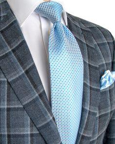 Brioni | Grey Bold Windowpane Sportcoat | Apparel | Men's