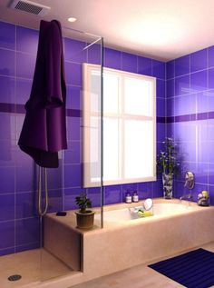 A bold purple shower, fit for a king!