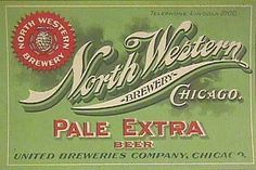 North Western Brewery Pale Extra Beer Label