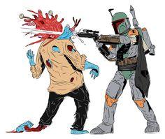 Boba Fett vs. Zombie