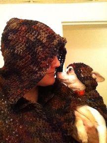 Doggie and Me Crochet Cloaks from Neldee.