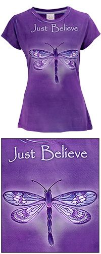 Just Believe Dragonfly Tee at The Breast Cancer Site  [per previous pinner]