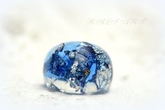 Blue resin ring, Ring resin, Resin ring colored resin,  gold flakes, silver flakes and glitter, Resin clear, Handmade ring of crystal resin by RALIJEWELLERY on Etsy