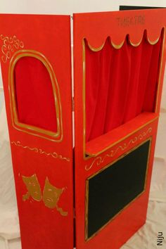 Puppet theatre for children. Made in wood.  https://www.facebook.com/ChezROuliet