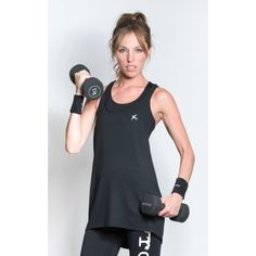 Sportsvest with draped look in black and 3/4 length cut and racer-back design #sportswear #activewear #sportsvest #yoga #pilates #workout #fitness #fashion #swallow