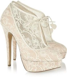Charlotte Olympia Minerva Lace Wedding Bridal Ankle Boots