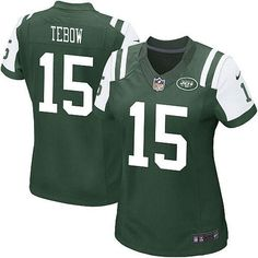 Women's New York Jets Tim Tebow Nike Green Limited Jersey ($20) ❤ liked on Polyvore featuring green