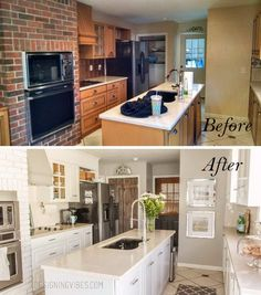 Keep Existing Cabinets but Change the Color Palette.