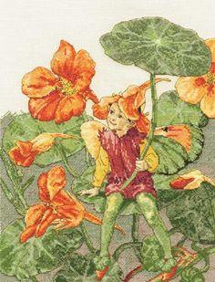Nasturtium Fairy Cross Stitch