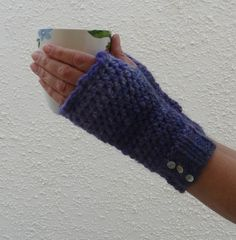 FINGERLESS GLOVES / MITTS  ' Blackberry Wine'  a by alidufty