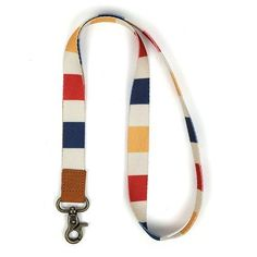 Standard Multicolor Buckle-Down Mens Lanyard-Touch Quote