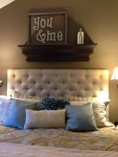 Large headboard wall shelf ledge by RaysCustomWoodwork on Etsy, $269.99