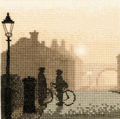 First Post - Silhouettes Cross Stitch Kit from Heritage Crafts