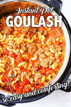 Make comforting, hearty Goulash in your Instant Pot! This Americanized version of Goulash could not be easier or more delicious. It cooks perfectly every time and is done in only 30 minutes. Perfect easy dinner any night of the week! Best Instant Pot Recipe, Instant Recipes, Instant Pot Dinner Recipes, Instant Pot Meals, Great Dinner Recipes, Dinner Ideas, Easy Dinner For Two, Dinner Side Dishes, Comfort Food