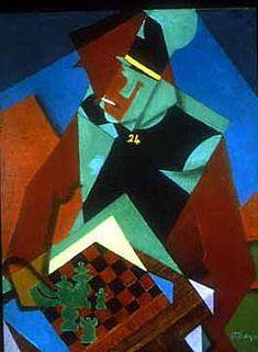 Jean Dominique Antony Metzinger (1883-1956)  Le Soldat à la partie d'échecs
