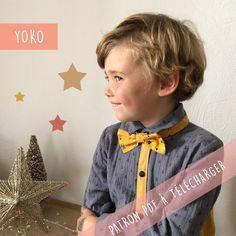Patron gratuit noeud papillon Yoko (PDF) | Super Bison Super Bison, Sewing Online, Bowtie Pattern, Tip Top, Diy Baby Headbands, Couture Sewing, Yoko, Christmas Baby, Free Pattern