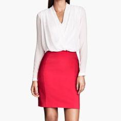 Pink pencil skirt H&M pink pencil skirt H&M Skirts Pencil