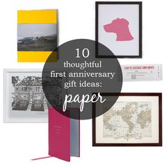 10 unique, modern, and romantic first anniversary gifts made from paper.