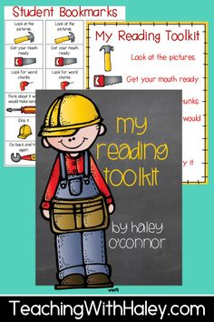 Use this freebie to teach your littles those important reading strategies! Included are clipart for a class anchor chart, pieces for student notebooks (or you could have them create something else), student bookmarks, and student pages to send home or anything else you might need them for. | First Grade Resources | Reading Lesson Plans | Printables for Elementary |