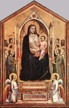 Virgen con niño y santos. Giotto. Galería de los Uffizzi. Florencia.