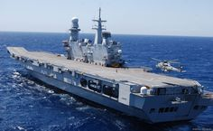 Italian aircraft carrier Cavour, the newest flagship and the largest ship of the Italian Navy. (wikipedia.image) 5.16 New #1G