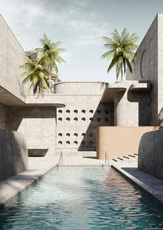 Brutalist Pool Series – Massimo Colonna (Exclusive to TCH) - The Cool Hunter Fill The Frame, Aesthetic Value, Affordable Housing, Italian Artist, Hospitality Design, Brutalist, Pool Houses, Urban Landscape, Modern Architecture