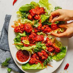 Spicy Korean Style Cauliflower Wings | Minimalist Baker Recipes