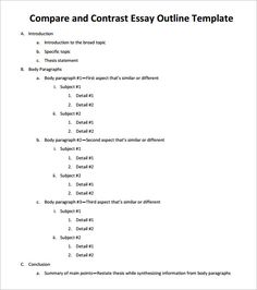 examples of a outline for a essay