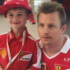 Cute story: 6 year old Thomas from France, the little Kimi and Ferrari fan, cried when Räikkonen crashed out. Thomas got the chance to meet his idol, Kimi Räikkönen, which gave him a big smile. The best story to come out of the weekend!