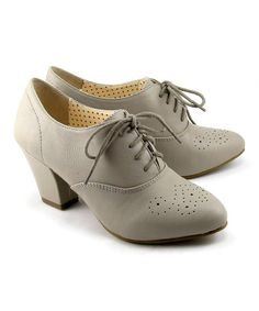 Take a look at this Gray Harrow Oxford Pump by B.A.I.T. on #zulily today!