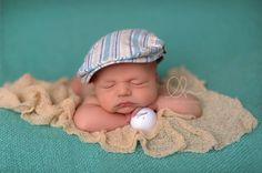 Newborn  Baby - Golf Theme via Leah Hoskins Photography http://www.leahhoskins.com/