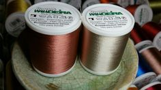 Madeira Rayon Embroidery Thread Lot of 2 each Col. 1341 and Col. 1060 New Machine Embroidery Thread, Cross Stitch Embroidery, New Crafts, Wood