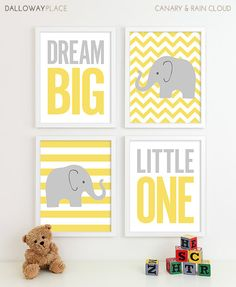 Chevron Elephant Nursery Decor, 8x10 on Etsy, $50.00 I never pin baby stuff, but it's ELEPHANTS! And so cute!