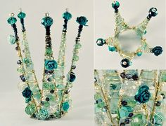 Crown of beads and stones