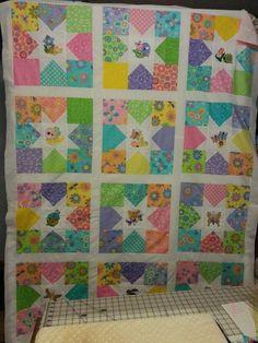 Hi-De-Ho quilt top before finsl border and quilting.